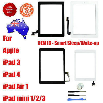 For Apple iPad 3 4 5 Mini 1 2 3 Air 1 Digitizer Glass Touch Screen Replacement