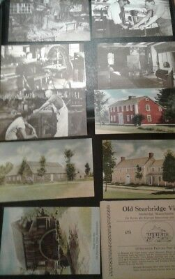 Lot of 10 Sturbridge village museum ma Massachusetts old vintage EUC postcards A