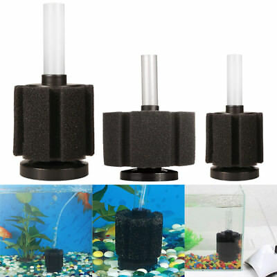 Aquarium Fish Tank Bio Foam Sponge Internal Filter Breeding Small Fry Filtration