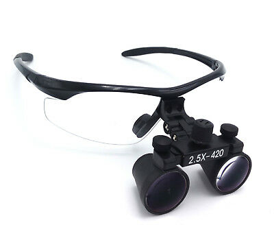 Dental Surgical Binocular Loupes 2.5X Optical Glass Antifog Medical Magnifier