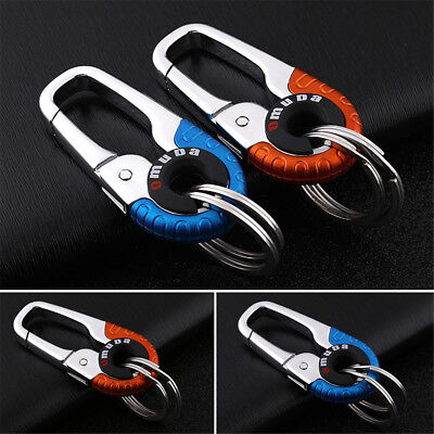 Stainless Steel Buckle Carabiner Keychain Key Ring Hook Outdoor Climbing Random
