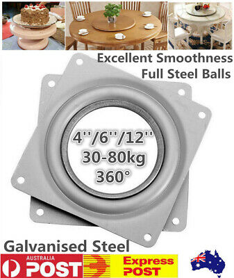 "4/6/12""Round Lazy Susan Metal Bearing Rotating Swivel Turntable For TV Rack Desk"