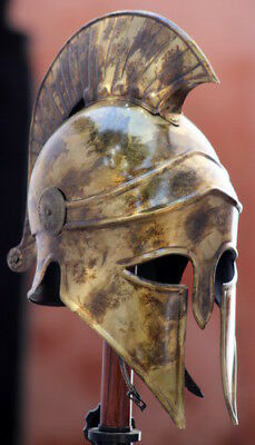 Medieval Wearable Greek Corinthian Helmet Free Leather Liner Knight helmet MS93