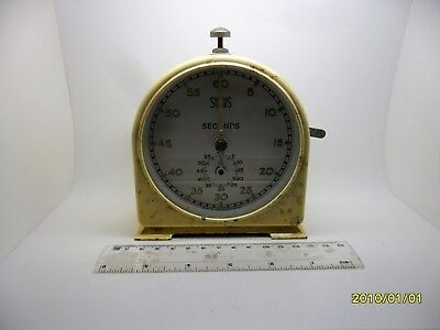 VINTAGE ART DECO SMITHS TIMER SECONDS ENGLISH CLOCK 1940's