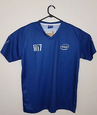 INTEL E-Gaming Jersey Extreme Masters #intelgaming Core i7 100% POLYESTER