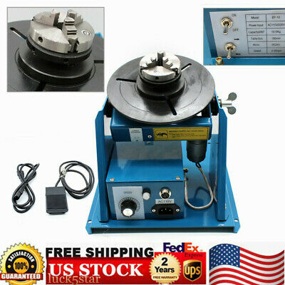 """2.5"""" Mini 3 Jaw Lathe Chuck Rotary Welding Positioner Turntable 110V BY-10 USA"""