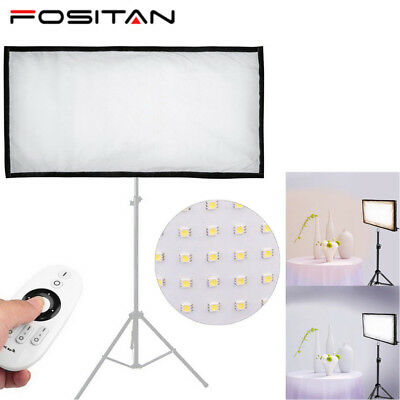 Bi-Color 3200~5500K Flexible LED Video Light Panel Studio Photography Lighting