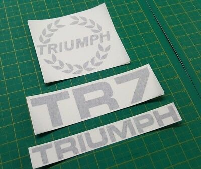 TRIUMPH TR7 and Wreath rear and bonnet replacement Decals Stickers any colour