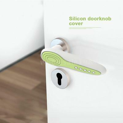 Silicone Doorknob Protective Covers Door Handle Guards Bumpers Anti-static P4E5