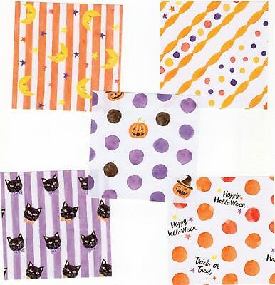 40pcs Halloween Theme Square Origami Craft Paper, 5 designs, 7.5cm x 7.5cm