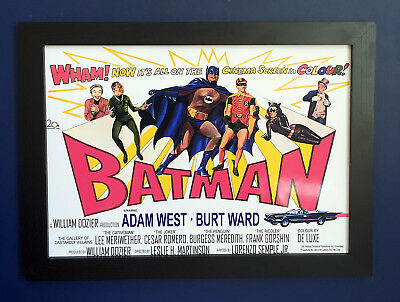 Batman Vintage 1966 Movie Poster Framed A3 Size - very high quality Adam West