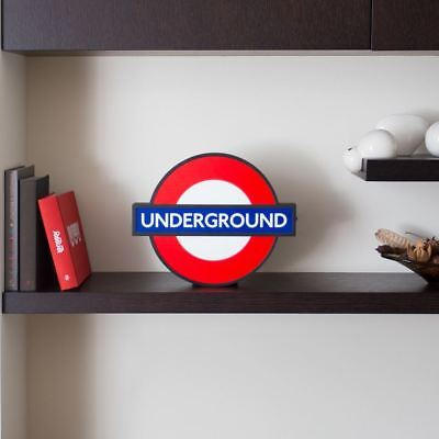 TFL London Underground Lightbox Sign with 10 Signs Tube Stations
