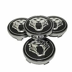 60mm Jaguar  Cat Emblem Alloy Wheel Centre Caps for XF, XJ, XJR XJ6 X, UK