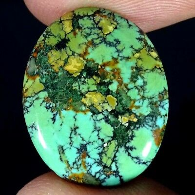 9.00CTs AA+ 100%NATURAL TIBET TURQUOISE OVAL CABOCHON ULTRA LOOSE GEMSTONE