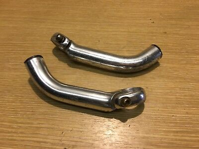 Pair Of Retro Silver Bicycle Bar Ends, Mountain Bike Part 3552