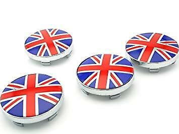 NEW Flag Union Jack Wheel Center Caps Alloy Center Hub Set 60mm  uk stock