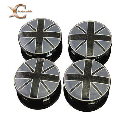 NEW Flag Union Jack Wheel Center Caps Alloy Set 60mm  uk black white  stock