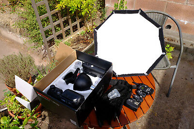 Godox AD360 flash kit for Nikon and Fuji. Complete with triggers and diffuser.