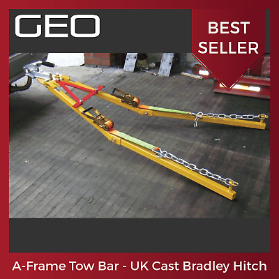 A Frame Tow Bar / Towing Dolly (Genuine UK Bradley Cast Steel Hitch) 2.5 Tonne