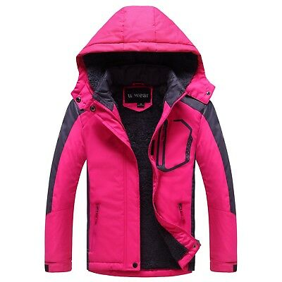 Girls Soft Shell Coat with Faux Fur Lining