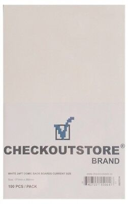 1000 CheckOutStore White 24pt Current Age Comic Books Backing Boards