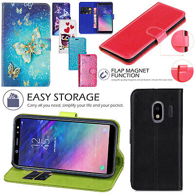 For Samsung Galaxy J2 Pro 2018 Leather Stand Flip Wallet Cover Phone Case Cover