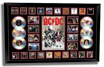 Acdc Brian Johnson Angus Young Signed Limited Edition Framed Memorabilia