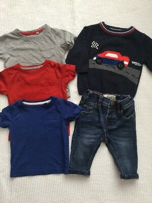Next Baby Boys 3-6 Months Outfit, Bundle Soft Jeans, Jumper, Tops, T Shirts
