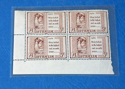 Australia 1961 xmas Block of 4 (3 MUH & 1 light hinge mark)