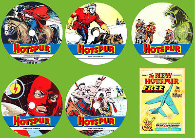 Hotspur Series 2 Comics & Annuals On 5 DVD Rom's