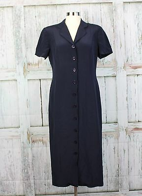 533f0fa4d63 TALBOTS DRESS LINED NAVY Petites Pure Silk Womens Size 8 -  11.19 ...