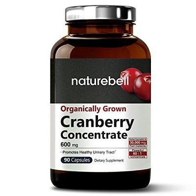 Organic Cranberry 60:1 Extract, 600mg, 90 Capsules, Equivalent to 36,000mg of &