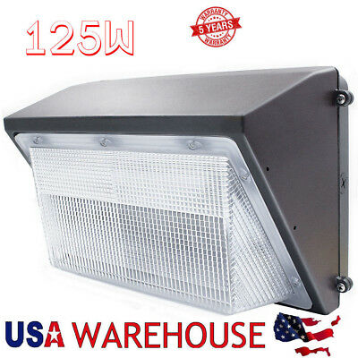LED Wall Pack with Dusk-to-dawn Photocell, 100W 125W Outdoor Commercial Lighting