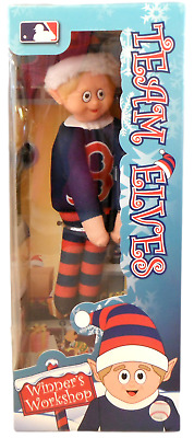 """9"""" ELF on shelf  Doll - Team Elves - BOSTON RED SOX - Forever Collectible"""