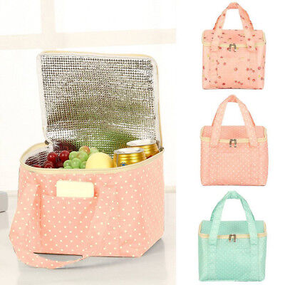 Insulated Bag Food Case Lunch Box Portable Thermal Storage Picnic Cooler Large