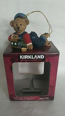 Kirkland Signature Costco Teddy Bear w Train Christmas Collectible Gift Ornament