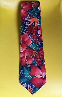 Men's tie KAHALA CREATIONS Hawaiian Hibiscus Retro Made in Hawaii