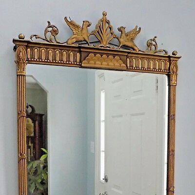 George III Giltwood Mirror Griffin Antique Neoclassical French Empire Classical