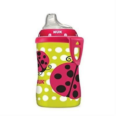 Baby Feeding Nuk Ladybug Silicone Spout Active Cup 10-Ounce Lightweight New