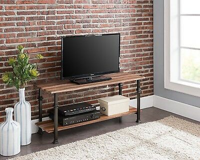 Industrial Tv Stand Furniture Vintage Entertainment Center Wood Rustic  Metal New
