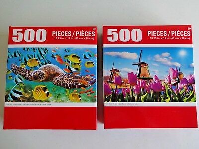 500 PIECE JIGSAW Puzzles (2 Pack) Cra-Z-Art Brand New FREE SHIPPING!