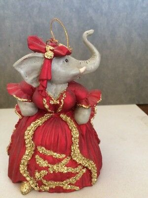 Large Elephant Christmas Ornament. Regal Lady