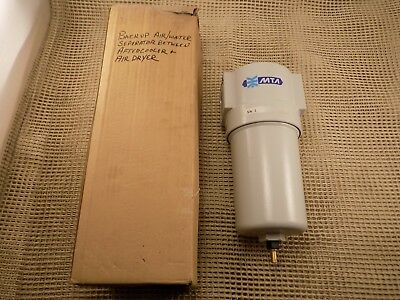 """New MTA industrial 1"""" NPT air filter water trap HEF 018 232 psi"""