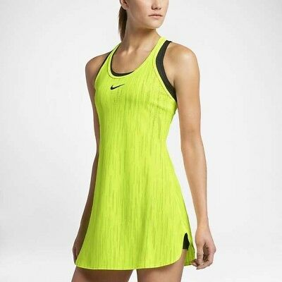 Nike Court Women's Dry Slam Dress (Volt) - Medium - New ~ 800930 702