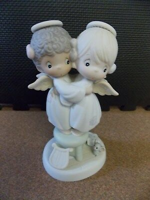 "Precious Moments ""Angels We Have Heard On High"" from 1991 Porcelain #524921"