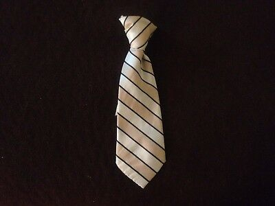 Baby boy necktie blue striped clip-on 6-12 months