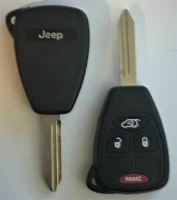 JEEP 2005-16 4 Button Remote Head Key OHT692427AA  OHT Top Quality USA Seller