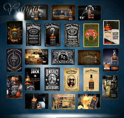 2018 Retro 20x30 Jack Daniels Metal Poster Wall Art Sticker Pub Bar Home Decor