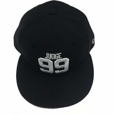 060009857 New York Yankees Aaron Judge New Era Black/Navy 59FIFTY Custom Fitted Hat 7  1
