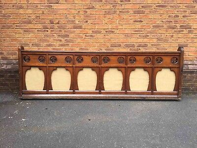 Antique Gothic Style Pitch Pine Church or Chapel Decorative Wooden Panel